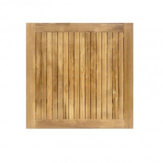 "24"" Square Teak Slat Table Top"