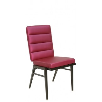 Stacking Steel Side Chair with Horizontal Channel Inside Back and Square Tapered Leg CF5503