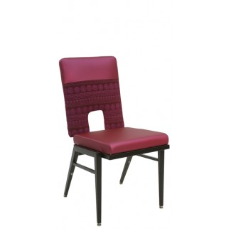 Stacking Steel Side Chair with Two-Tone Back and Square Tapered Leg CF5505-TT