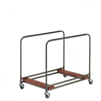 "Standard Duty Round Table Cart 31"" x 49"" x 41"" Side Stack without Handle"