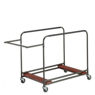 "Standard Duty Round Table Cart 31"" x 61"" x 41"" Side Stack with Handle"