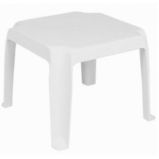 "Sunray 16"" Square Stacking Restaurant Side Table in White"