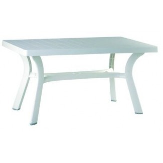 "Sunshine 31"" x 55"" Restaurant Dining Table in White"