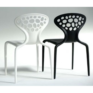 Supernatural Stacking Resin Side Chair - Perforated
