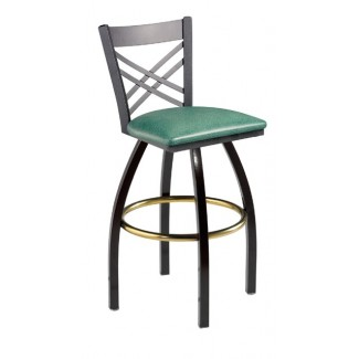 Swivel Bar Stool with Cross Back 901/942
