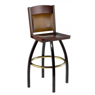 Swivel Bar Stool with Upholstered Back 901/981