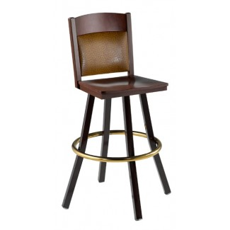 Swivel Bar Stool with Upholstered Back 902/981 UB