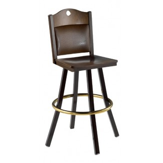 Swivel Bar Stool with Upholstered Back 902/982 UB