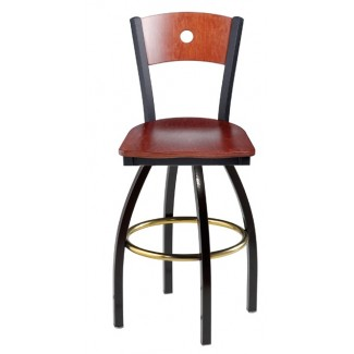 Swivel Bar Stool with Wood Seat 901/951