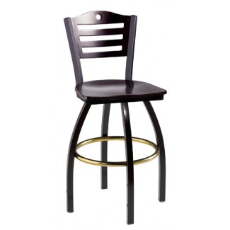 Swivel Bar Stool with Wood Seat 901/953
