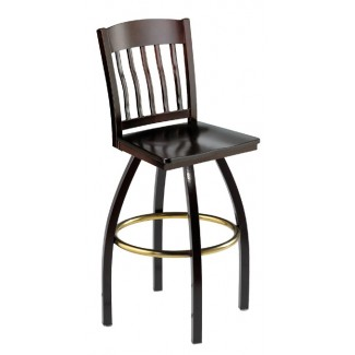 Swivel Bar Stool with Wood Seat 901/981