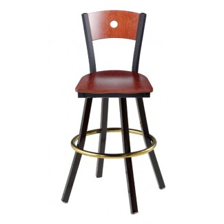 Swivel Bar Stool with Wood Seat 902/951