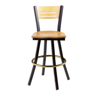 Swivel Bar Stool with Wood Seat 902/952