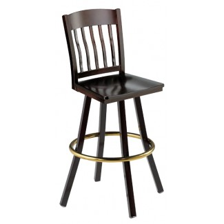 Swivel Bar Stool with Wood Seat 902/981