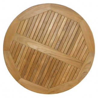 "24"" Round Composite Teak Slat Table Top"