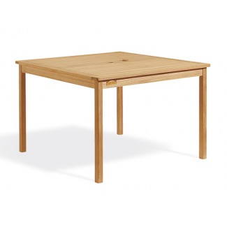 "Teak 42"" Square Dining Table"
