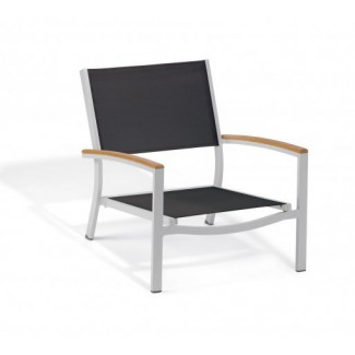 Carrillo Beach Chair - Black Sling - Teak