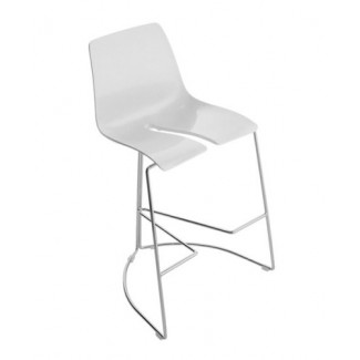 Tre 3 Stacking Bar Stool - White DTBS-W