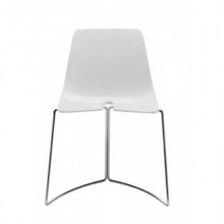 Tre 3 Stacking Side Chair - White DTCH-W