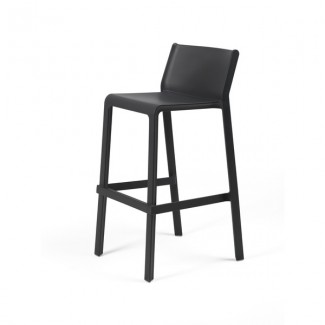 Trill Stackable Resin Hospitality Bar Height Stool