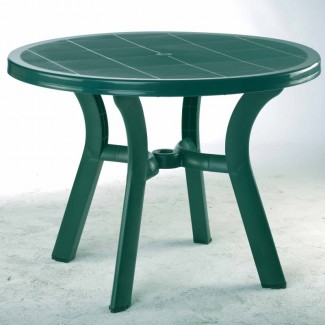 "Truva 42"" Round Restaurant Dining Table in Green"