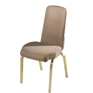 Vario Slender Back Aluminum Stacking Side Chair with Reeded Frame
