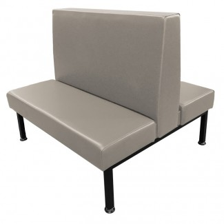Venice Double Freestanding Restaurant Bar Hospitality Commercial Upholstered Custom Booth Banquette Indoor