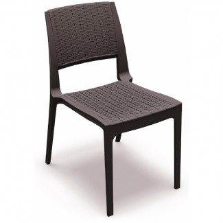 Verona Stacking Resin Side Chair - Brown