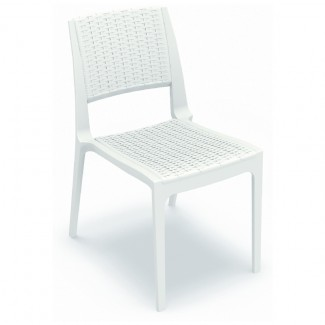 Verona Stacking Resin Side Chair - White