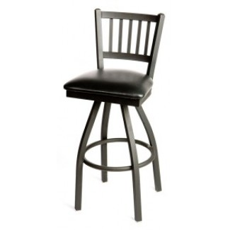 Vertical Back Swivel Metal Bar Stool SL2090-S