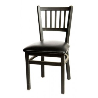 Vertical Slat Back Metal Dining Chair SL2090