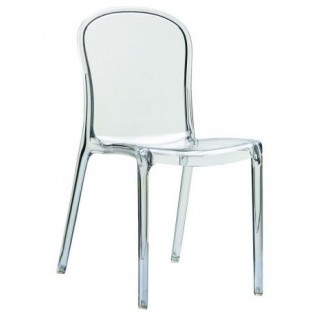 Victoria Stacking Resin Side Chair - Clear