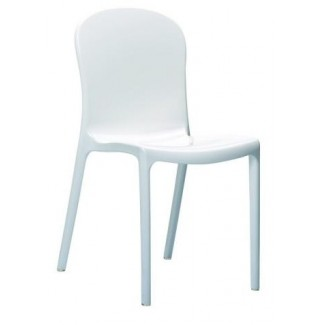 Victoria Stacking Resin Side Chair - Glossy White
