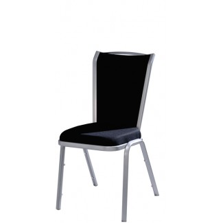 Vio COMFORTflex Back Aluminum Stacking Side Chair with Handgrip
