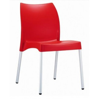 Vita Stacking Resin Side Chair - Red