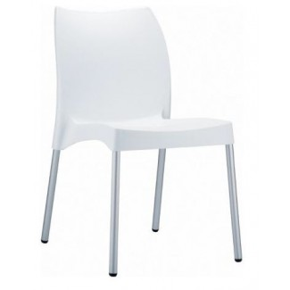 Vita Stacking Resin Side Chair - White