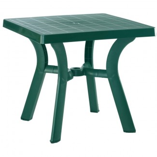 "Viva 31"" Square Restaurant Dining Table in Green"