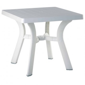 "Viva 31"" Square Restaurant Dining Table in White"