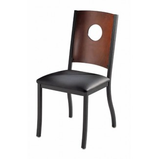Wagner Side Chair with Upholstered Seat and Full Moon Back 823