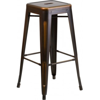 Westinghouse Distressed Backless Bar Stool