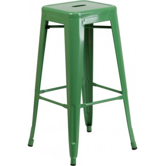 Industrial Restaurant Barstools Westinghouse Backless Bar Stool Red