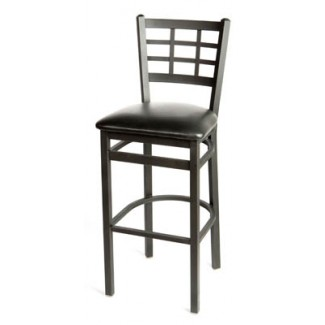 Window Pane Back Metal Bar Stool SL2163-1