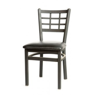 Window Pane Back Metal Dining Chair SL2163