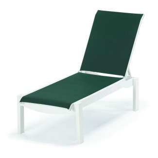 Windward Sling Chaise Lounge with Wheels