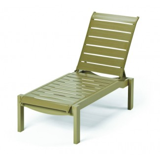 Windward Strap Chaise Lounge with Wheels