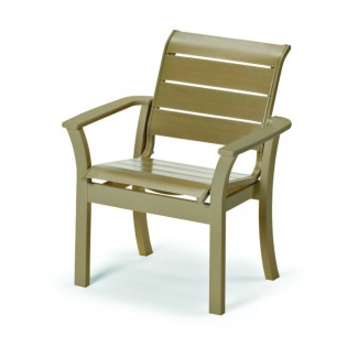 Windward Strap Stacking Resin Cafe Arm Chair