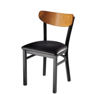 Wood Side Chair with Upholstered Seat 921