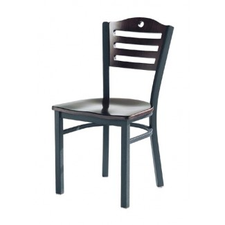 Wood Side Chair with Upholstered Seat 953
