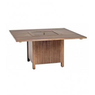 Woodlands 62 Inch Square Fire Table With Square Burner