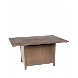 Woodlands Linear Dining Table With Linear Burner